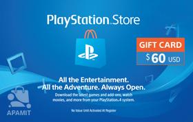 Playstation Network Card 60 USD